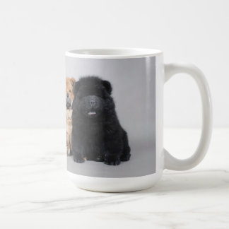 Chow chow puppies coffee mug