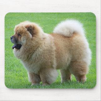 Chow Chow Puppy Dog Green Grass Mousepad