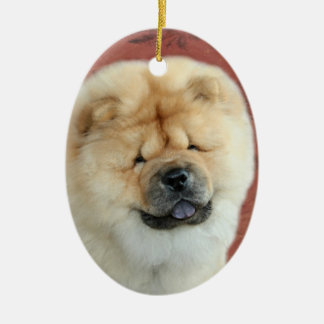 Chow Chow Puppy Holiday Ceramic Ornament