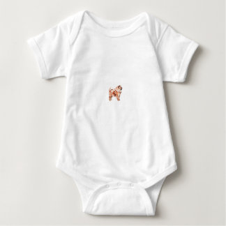 Chow Chow Red Baby Bodysuit