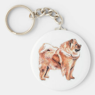 Chow Chow Red Keychain