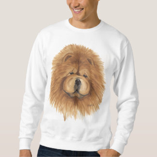 chow chow red  sweatshirt