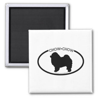 Chow Chow Silhouette Black Magnet