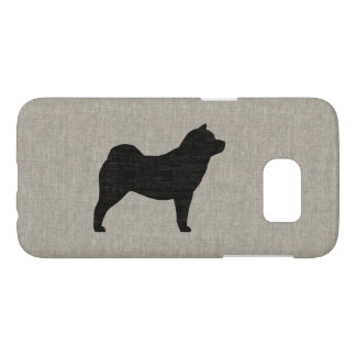 Chow Chow Silhouette Faux Linen Style Samsung Galaxy S7 Case
