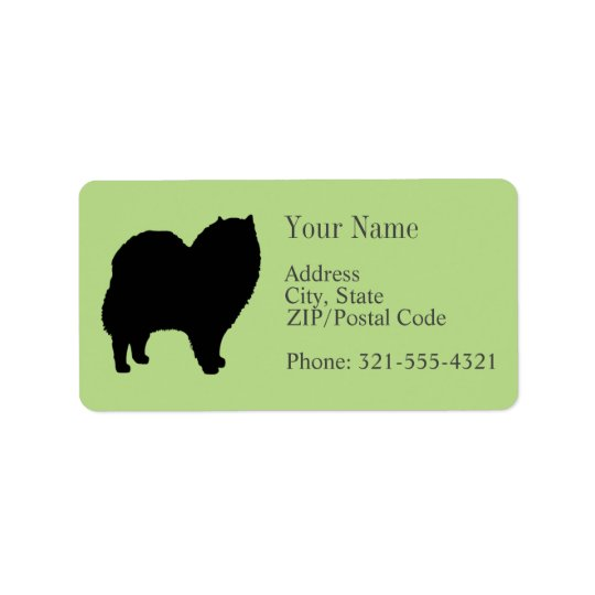 Chow Chow Silhouette Label