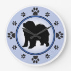 Chow Chow Silhouette Large Clock