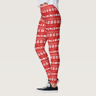 Chow Chow Silhouettes Christmas Pattern Leggings