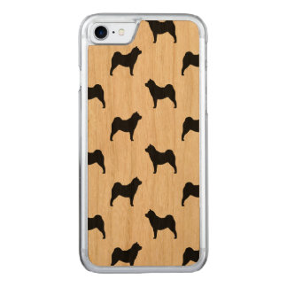 Chow Chow Silhouettes Pattern Carved iPhone 7 Case