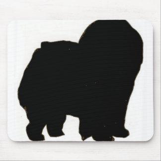 Chow chow silo black mouse pad