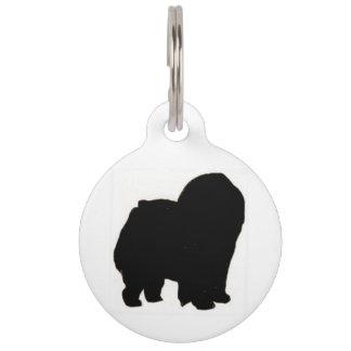 Chow chow silo black pet name tag