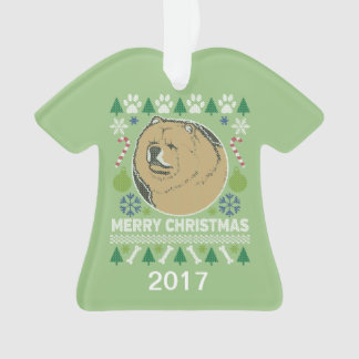 Chow Chow Ugly Christmas Sweater Ornament