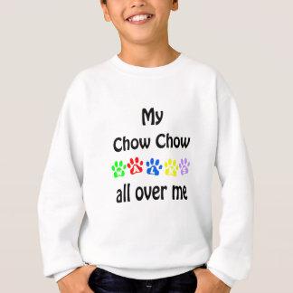 Chow Chow Walks Design Sweatshirt