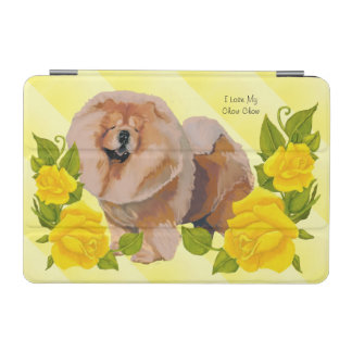 Chow Chow with Yellow Rose iPad Mini Cover