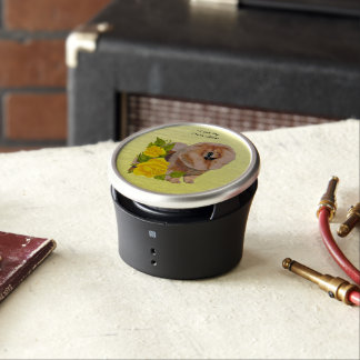 Chow Chow with Yellow Roses Bluetooth Speaker