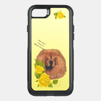 Chow Chow, with Yellow Roses OtterBox Commuter iPhone 8/7 Case