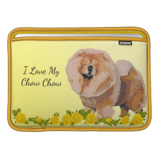 Chow Chow with Yellow roses Sleeve For MacBook Air