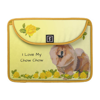 Chow Chow with Yellow Roses Sleeve For MacBook Pro