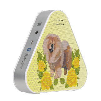 Chow Chow with Yellow Roses Speaker