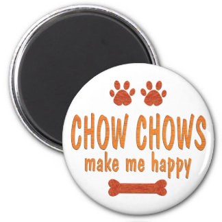 Chow Chows Make Me Happy Magnet