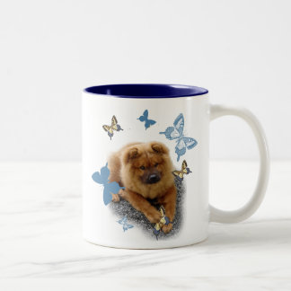 CHOW  HOLD BUTTERFLY Two-Tone COFFEE MUG