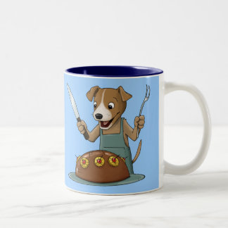 Chow Hound Two-Tone Coffee Mug