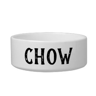 Chow Personalized Small Dog Bowl