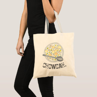 CHOWDAH New England Clam Chowder Soup Bowl Foodie Tote Bag