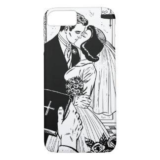 Chrétien de cru de baiser de mariage de jeunes coque iPhone 7
