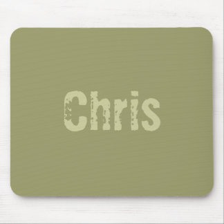Chris Army Green Mousepad