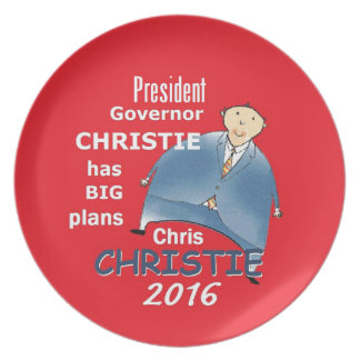 Chris CHRISTIE 2016 Party Plate