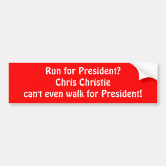 """Chris Christie"" Bumper Sticker"
