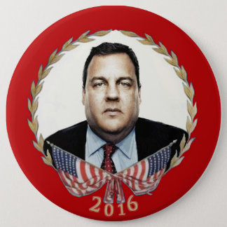 Chris Christie for President 2016 6 Inch Round Button