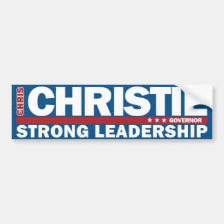 Chris Christie Governor Strong Leadership Sticker