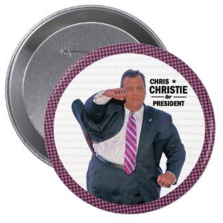 Chris Christie President in 2016 4 Inch Round Button