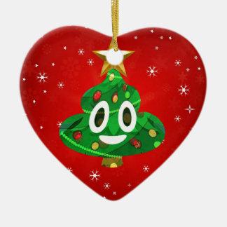 chris emoji poop ceramic ornament