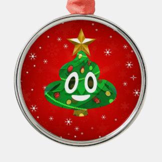 chris emoji poop metal ornament