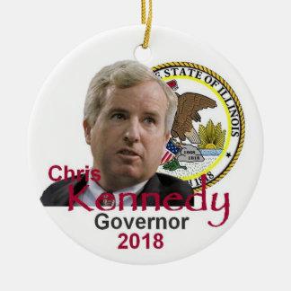 Chris KENNEDY Governor Ornament