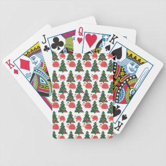 chrismas bicycle playing cards