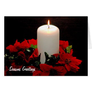 Chrismas Candle Greeting Card