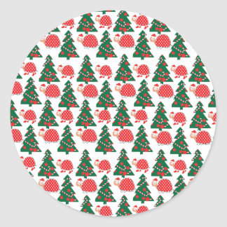 chrismas classic round sticker