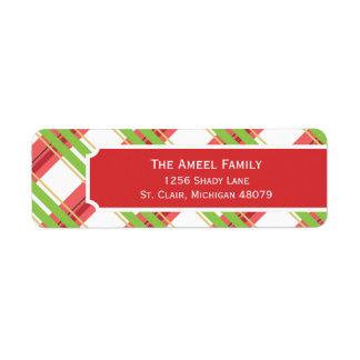 Chrismas Plaid    Holiday Address Labels