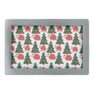 chrismas rectangular belt buckles