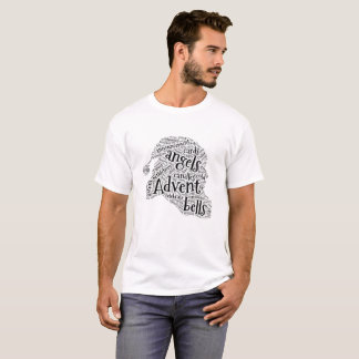 Chrismas Santa Wordart Mens T-shirt