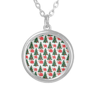 chrismas silver plated necklace