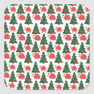 chrismas square sticker