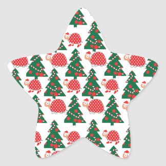 chrismas star sticker