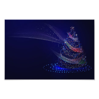 Chrismas tree photo print