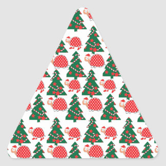 chrismas triangle sticker