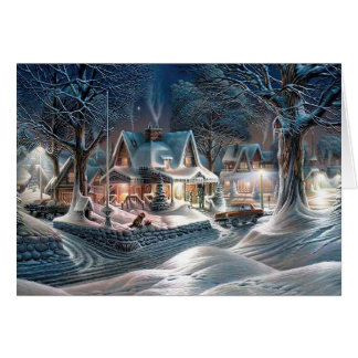 Chrismas Winter Cottage Card