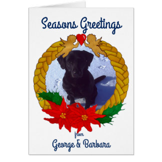 Chrisrmas Garland Greetings Card